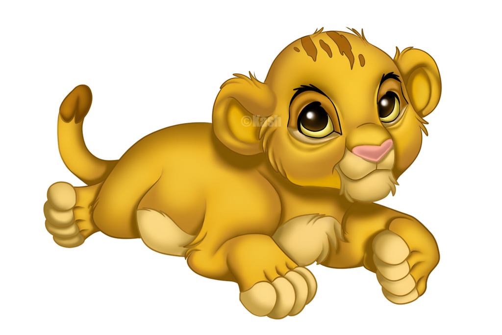 Cute Baby Disney Character Coloring Pages Of Simba