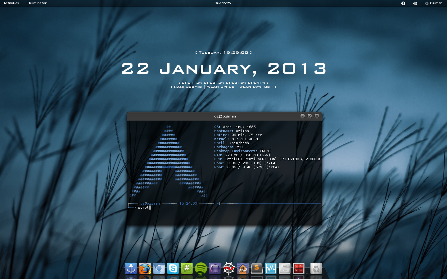 Arch Linux Gnome by Oz...