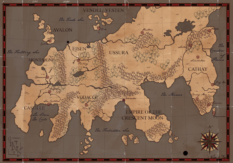 7th sea carte de theah by inkfloyd on deviantart for Porte 7th sea