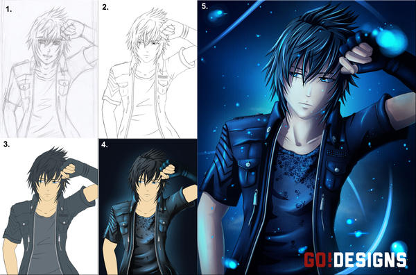 Fed up Noctis - Stages by G0DESIGNS
