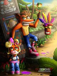 Wumpa Whoops Crash Bandicoot