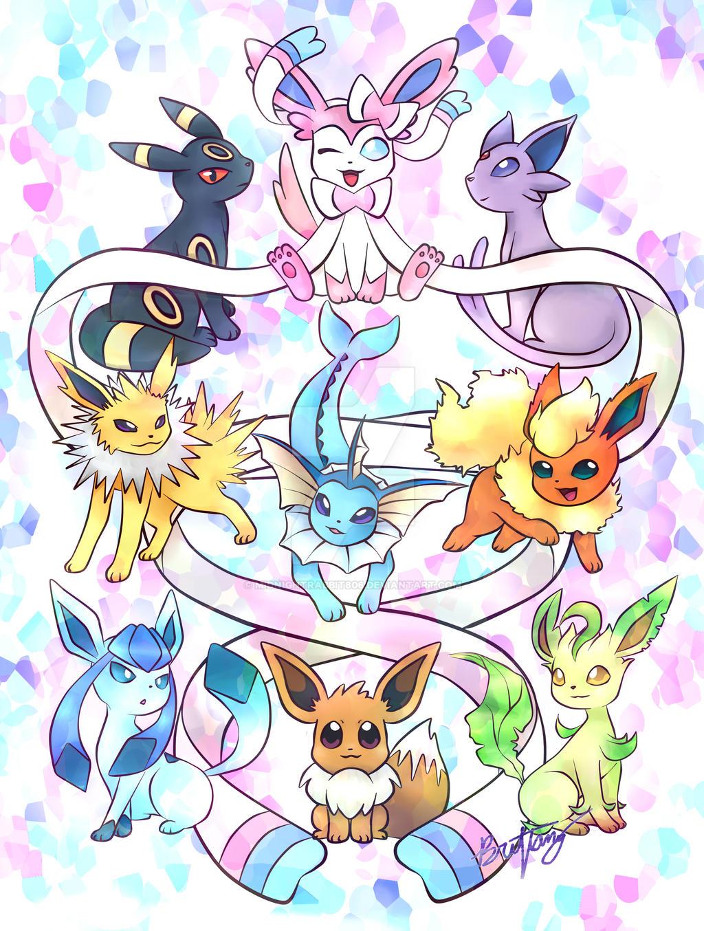 Chibi Pokemon Eevee Evolutions Images | Pokemon Images