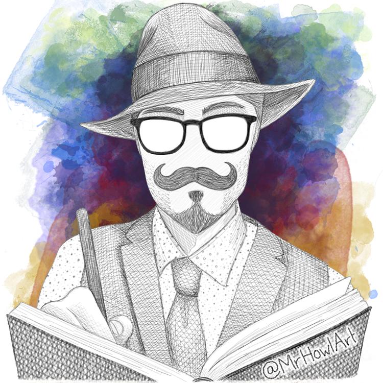 MrHowlArt self-portrait sketch profile pic