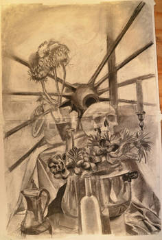 skull and thistles