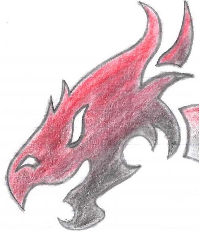 Fire Dragon Head By Elliwise