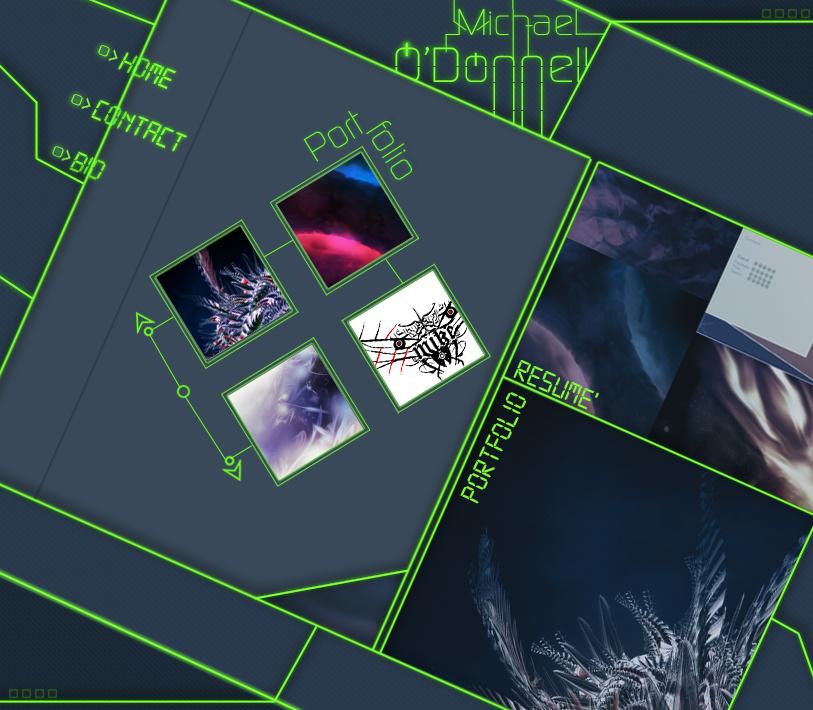 Old Portfolio Website Layout by xXMaverickXx