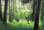 Legend of Zelda - Link in  the forest