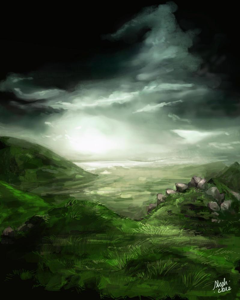 (Speed) Rainy Landscape by Zefy