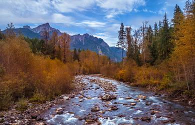 Autumn on the Sauk river