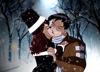 Winter kiss by JennyMeiou
