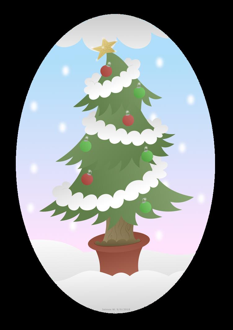 christmas tree poem illustration by lavenderrain24