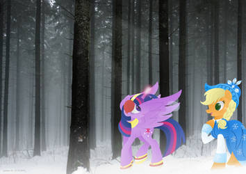 Winter Forest (Edit) by LavenderRain24