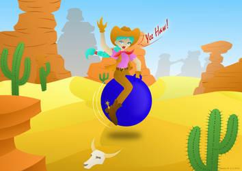 Ridin' Western Hopper! + SPEEDPAINT by LavenderRain24