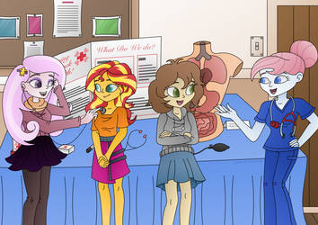 Nurse Career Day (Commission) by LavenderRain24