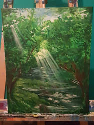 Forest River (PAINTING)