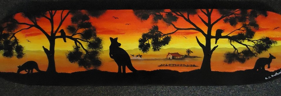 Outback Australia Skateboard Deck by dinoloverXX