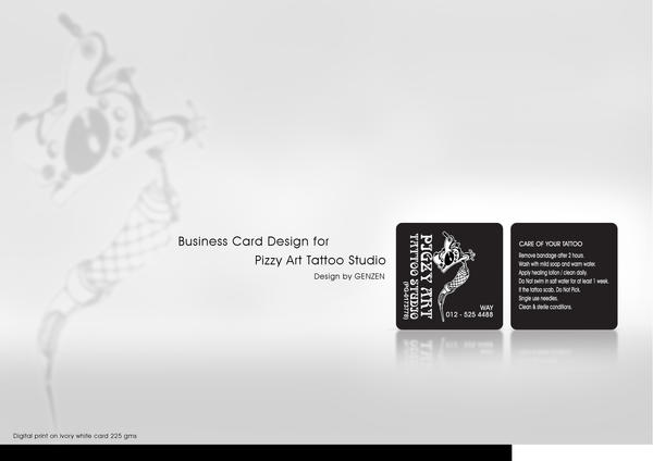 Tattoo business card by congolim on deviantart for Business card size tattoos