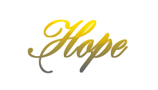 lettering for Hope by h0p3-hell