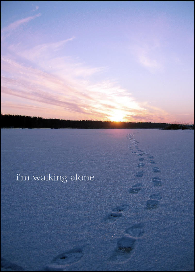 I'm walking alone by h0p3-hell