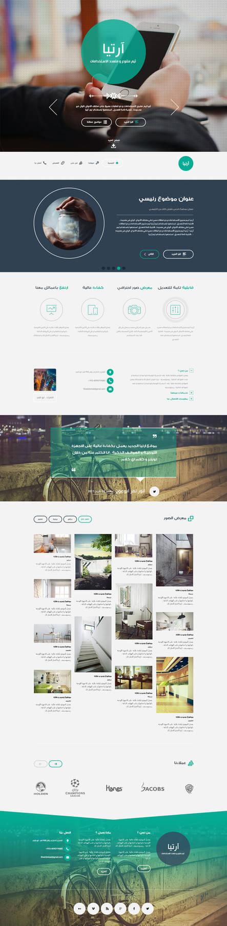 Artia theme - website