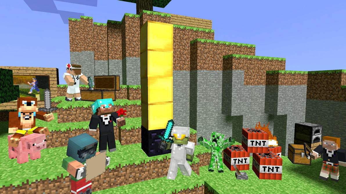 let s play rooster teeth minecraft by skull guy on deviantart
