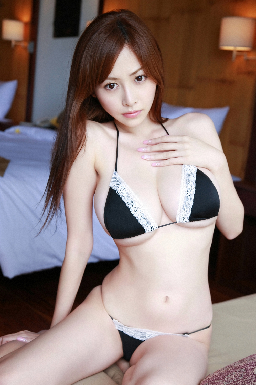 Anri Sugihara - black lace bikini by Anri-Sugihara