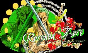 One Piece - Roronoa Zoro Signature by lady-alucard