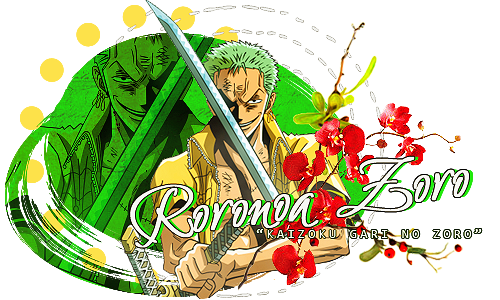 One Piece - Roronoa Zoro Signature by lady-alucard