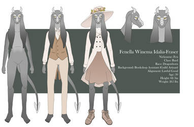 Fenella's Reference Sheet 2018 by SkywardSylphina