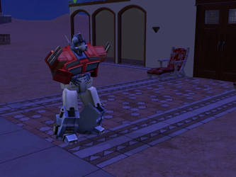 optimus prime bellyache?sims 2 by Spinosaur123