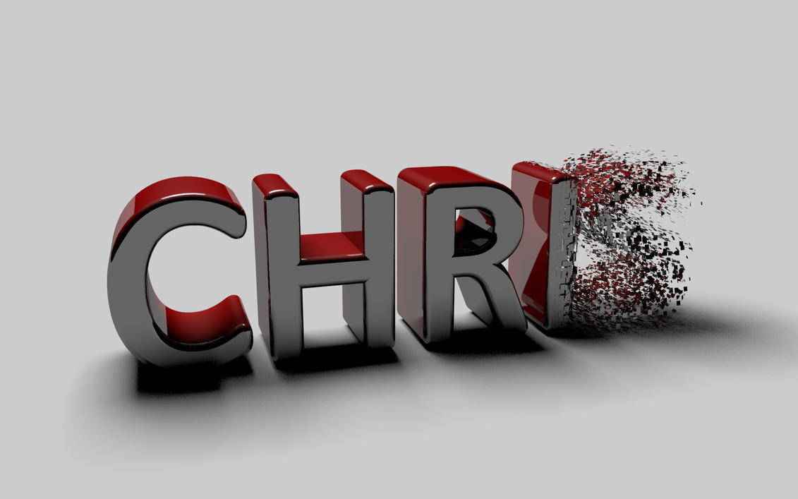 My name (wit some FX on it) by chris-project on DeviantArt