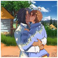 Kiss Kiss A Pastel Alien! by AaronFrostflower