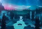 Flat landscape [11] - Magical River