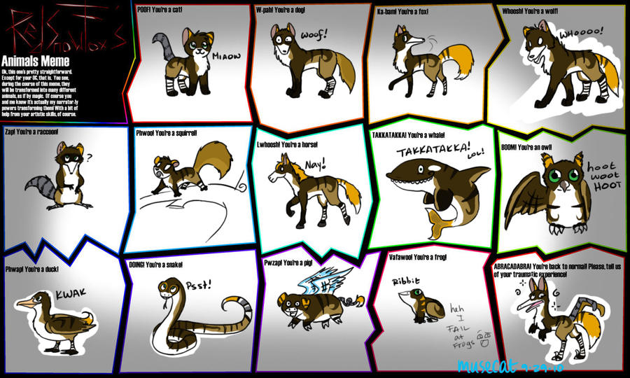 Animals OC Meme by katribou