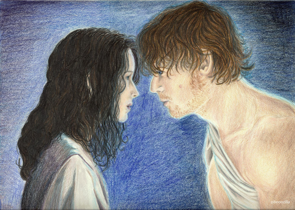 Claire and Jamie Pencils 300 by melzilla