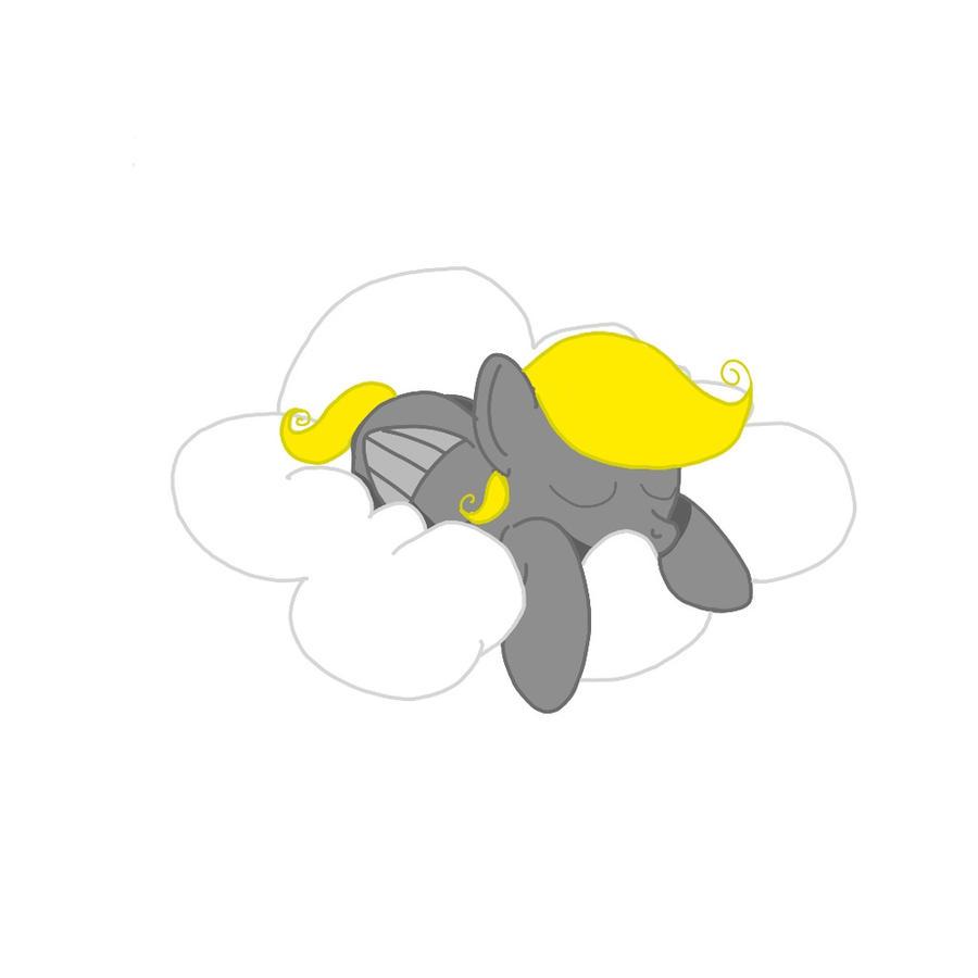 Cloud nap by Redpandaseas