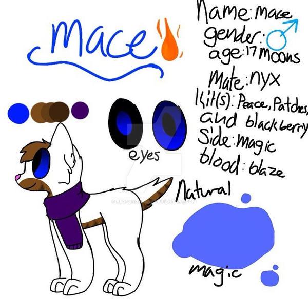 Ref sheet:mace by Redpandaseas