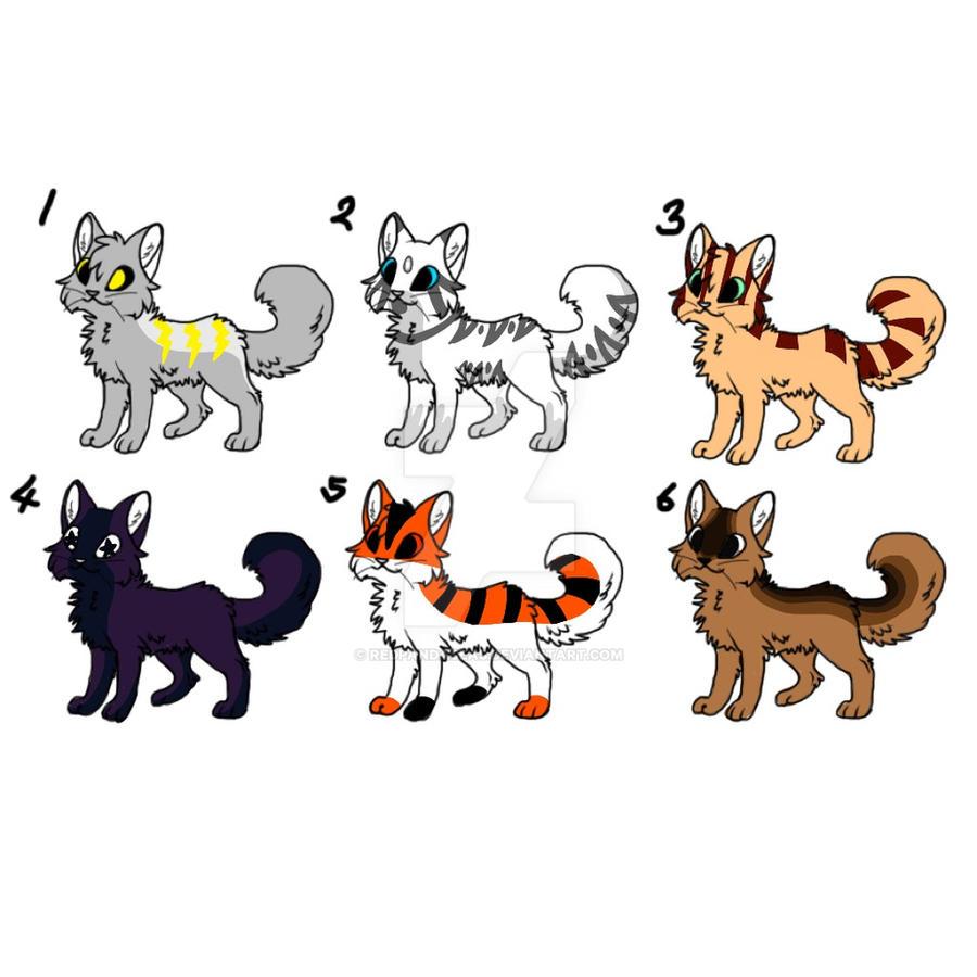 cat adoptables (5/6) open by Redpandaseas