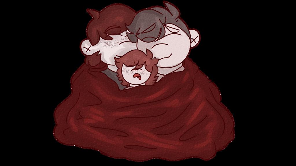 Cuddles by Redpandaseas