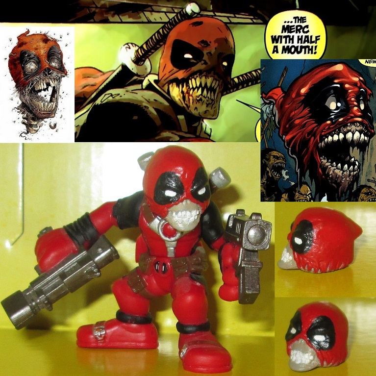Zombie deadpool headpool custom super hero squad by for Headpool