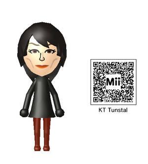 KT Tunstall Mii QR Code