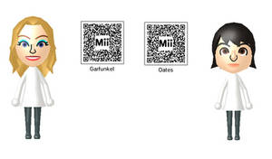 Riki Lindhome and Kate Micucci Mii QR Codes