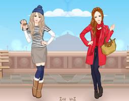 Rabbit and Fox: Winter Glamour