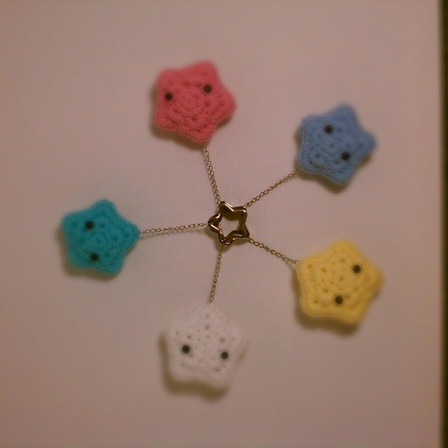 Amigurumi Keyring Pattern : star amigurumi keychains by jadetsao on DeviantArt