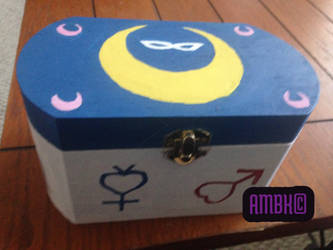 Hand Painted Sailor Moon Box: Top by Dreja24
