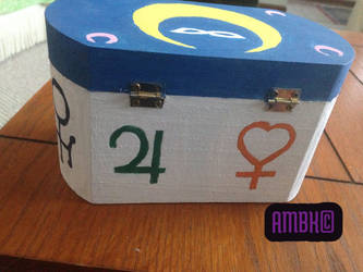 Hand Painted Sailor Moon Box: Side #3 by Dreja24