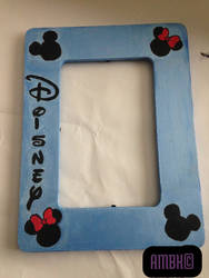 Hand Painted Disney Picture Frame by Dreja24