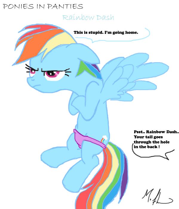 panties Rainbow dash