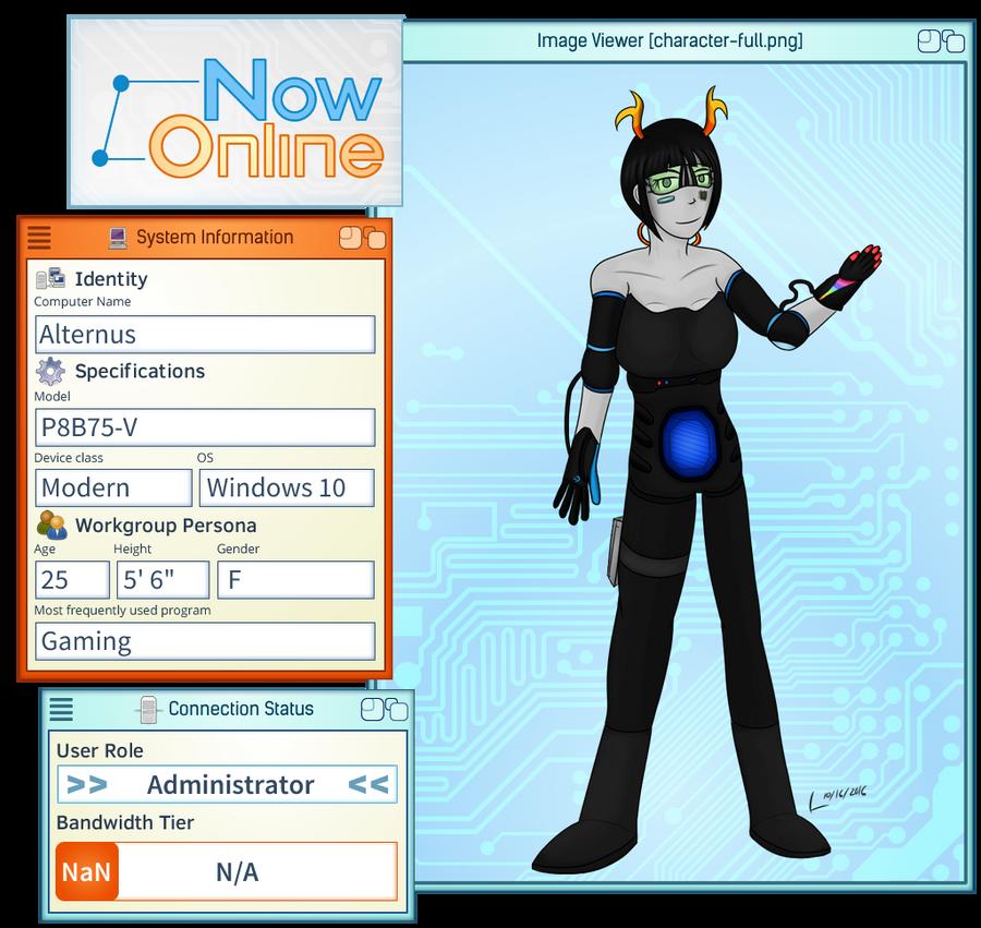 Now Online - Alternus by lirodon on DeviantArt