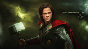 Sam Winchester as Thor // digital painting